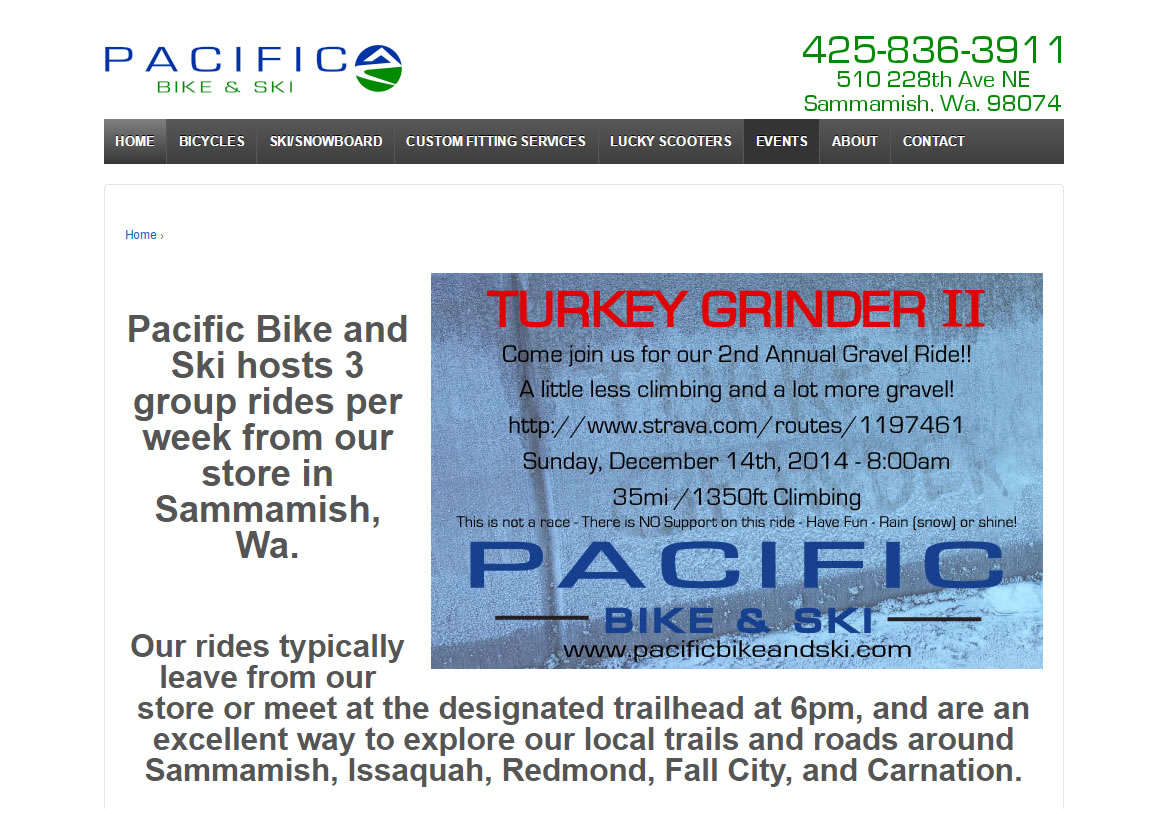 Pacific Bike & Ski Before